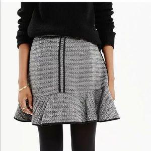 Madewell Textured Boucle Ruffle Skirt 8